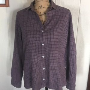 L.L. Bean women's long sleeve button up size 12